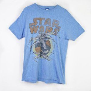 Star Wars Blue Short Sleeve Graphic T-Shirt Size L